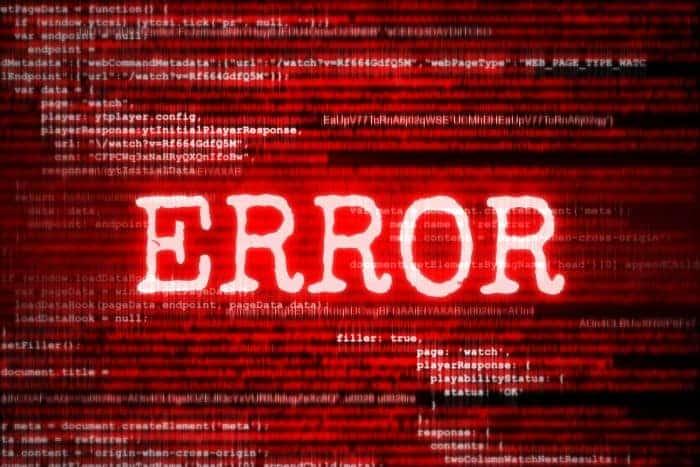 send a message of technical error