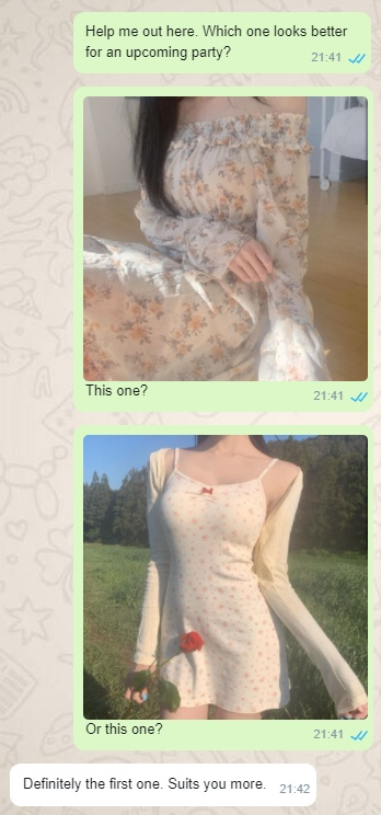 Choose My Dress Text