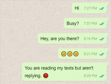 Desperate WhatsApp Texts