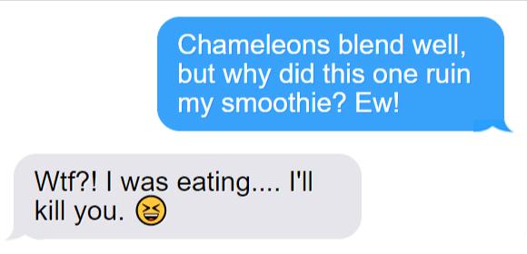 Funny Chameleon Text