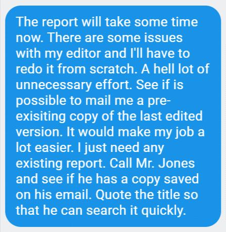 Long Text Message Single Paragraph