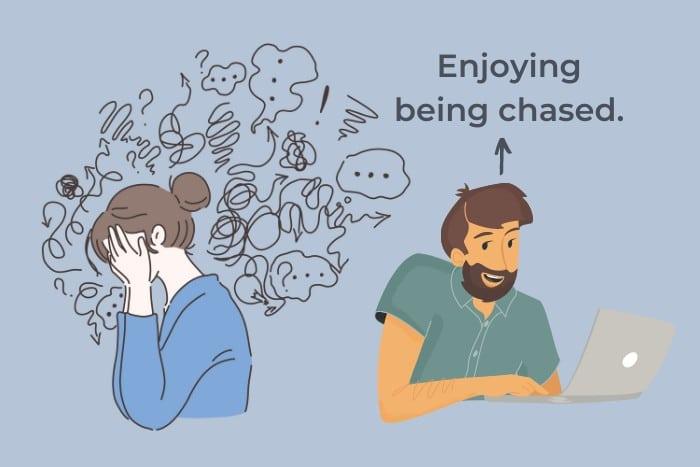 Man Enjoying Being Chased