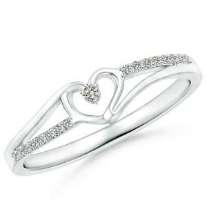 Angara Split Shank Promise Ring