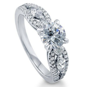 Berricle Rhodium Plated Promise Ring