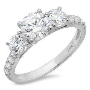 Clara Pucci Round Cut Promise Ring