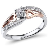 Diamond Classic 10k Rose Gold Promise Ring
