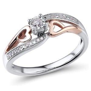 Diamond Classic Rose Gold Promise Ring